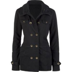 3 for $20 Hurley women's black Winchester pea coat